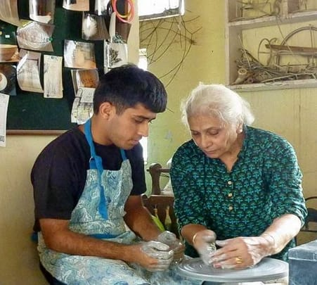 Pottery with Meena Vohra at Noida