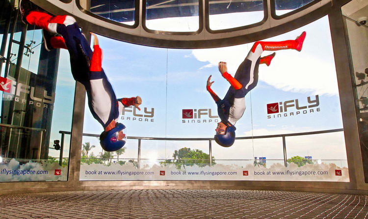 Indoor Sky Diving at iFly Singapore