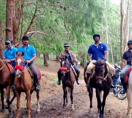 Horse Trip at Cobra Creek Ranch , Nagarhole