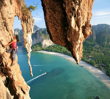 Rock Climbing at Railay Beach Krabi Flat 20% off