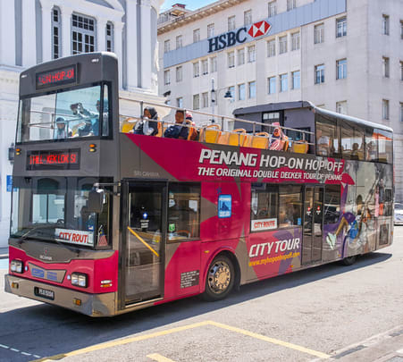 Penang Hop on Hop off Sightseeing Bus Tour, Flat 15% off