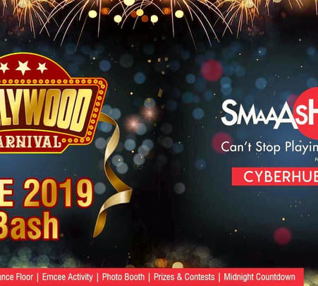 New Year's Eve 2019 Bollywood Carnival Dance Party at Smaaash - Cyberhub Gurgaon