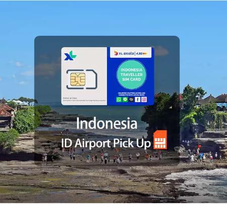 3g/4g Bali Sim Card (dps Airport Pick Up) - Flat 20% off