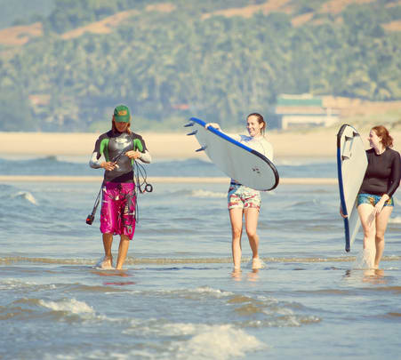 Trial Surfing Lessons at Ashwem Beach