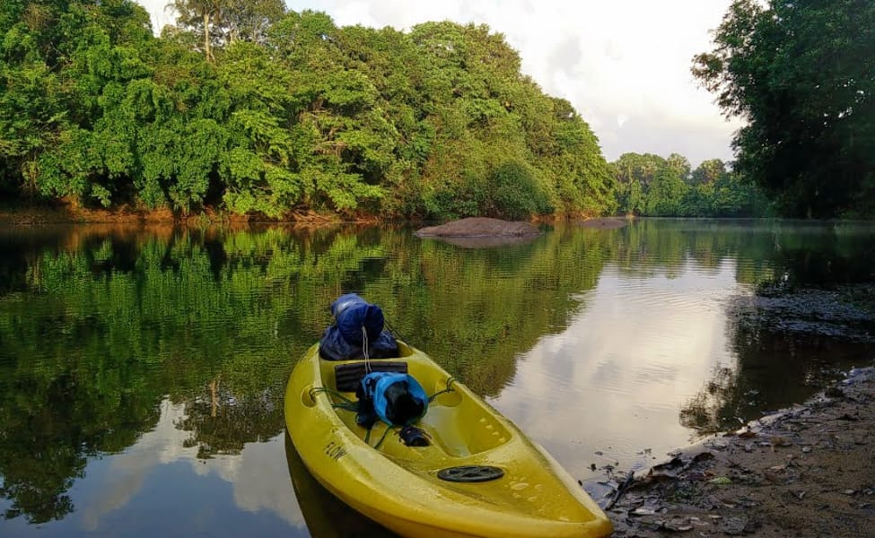 Image result for Kayaking in the calm Shambhavi river