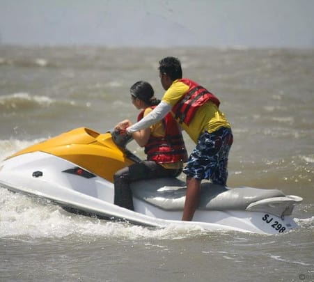 Jet Ski Ride on Mandwa Beach