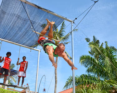 Experience Flying Trapeze at South Kuta in Bali