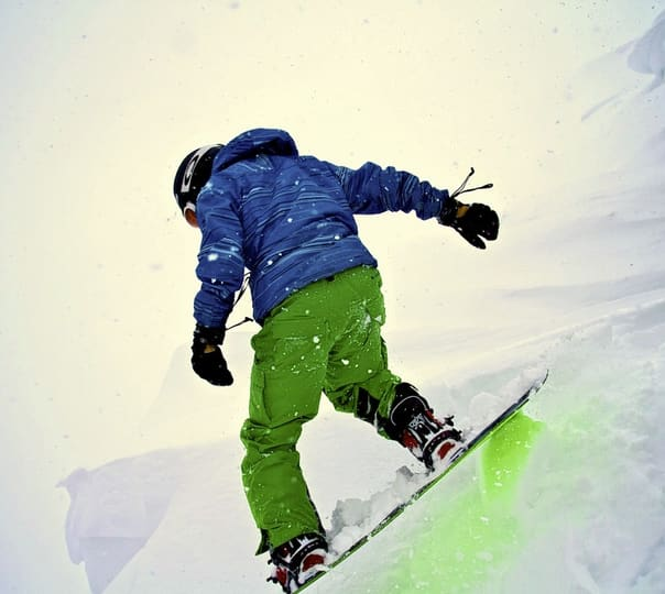 Snowboarding in Solang Valley