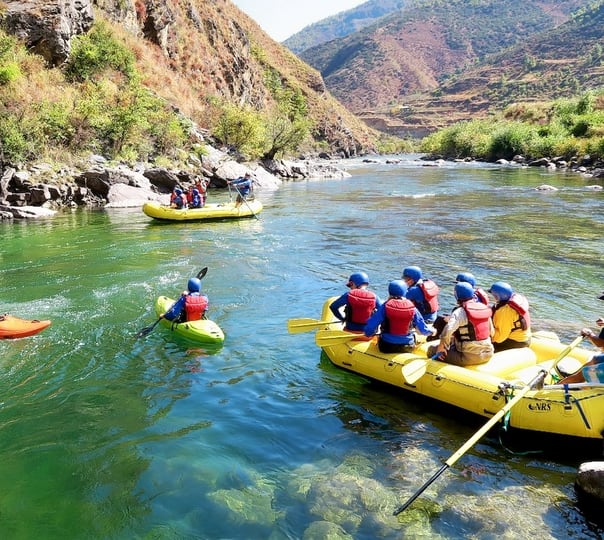 Rafting in Mo Chu River in Bhutan
