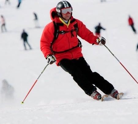 Skiing in Auli, Uttarakhand 2019