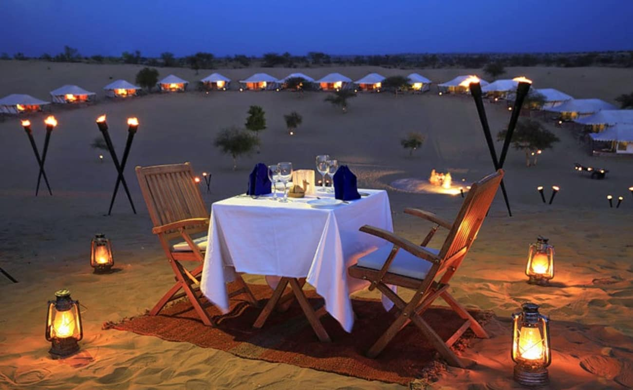 Dinner In Desert Jodhpur Thrillophilia