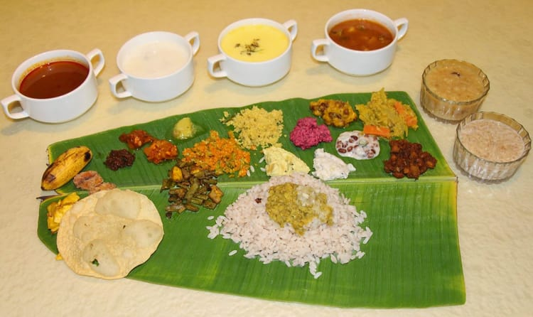 Eat Sadya (Kerala's Lunch) On A Banana Leaf