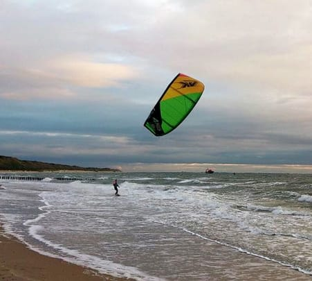 Kite Surfing at Phan Thiet in Vietnam