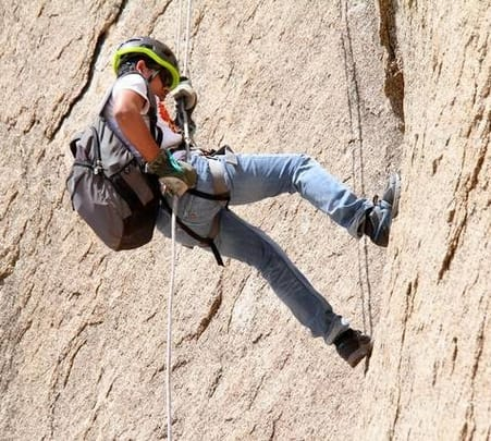 Rappelling at Bhongir Fort near Hyderabad