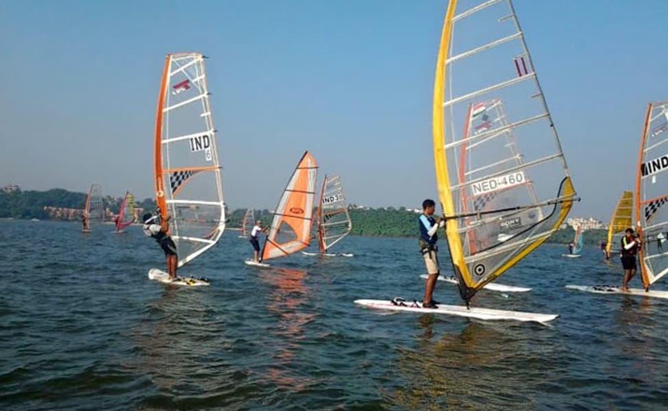 Wind Surfing At Baga Beach In Goa Thrillophilia