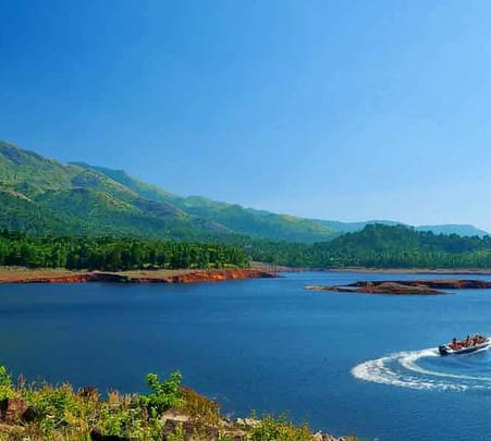 Boating in Banasura Sagar Dam, Wayanad