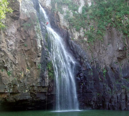Waterfall Rappelling at Amsoi