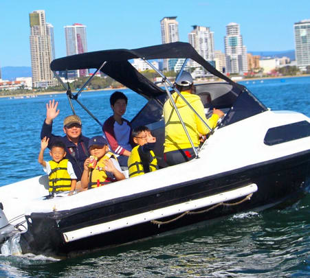 Half Cabin Boat Rental in Gold Coast