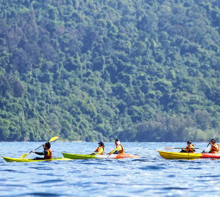 Island Hopping Adventure Full Day Tour in Kota Kinabalu Via Kayak Flat 20% off