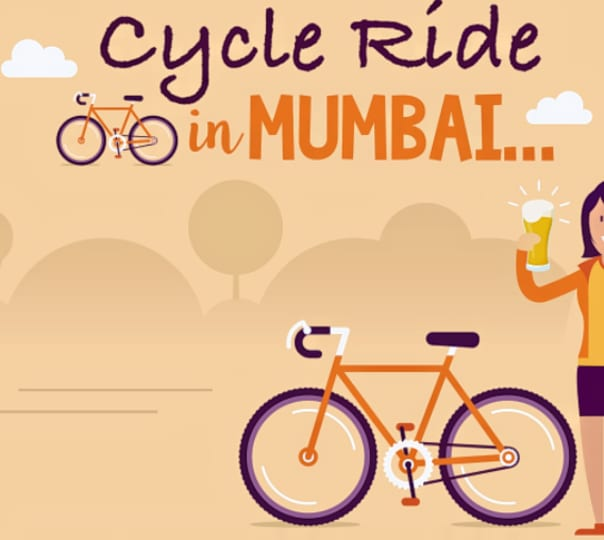 Evening Heritage Cycling Trip Ending with Beer in Mumbai