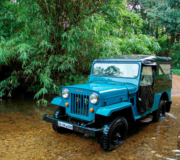 Jeep Drive to Bakkare Elephant Grasslands in Srimangala