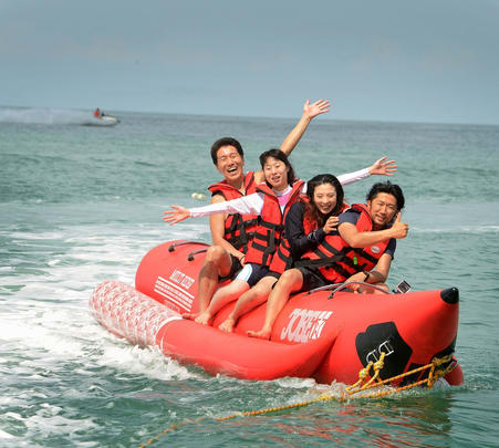Banana Boat Ride in Tanjung Rhu Beach