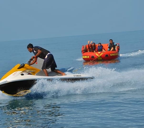 Bumper Ride at Nagaon Beach in Alibaug