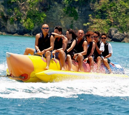 Banana Boat Ride at Tanjung Benoa in Bali
