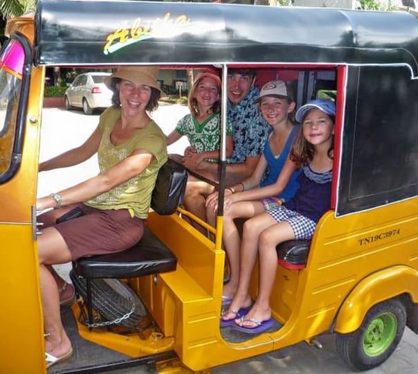 Auto Rickshaw Ride to Kadumbadi Village, Mahabalipuram