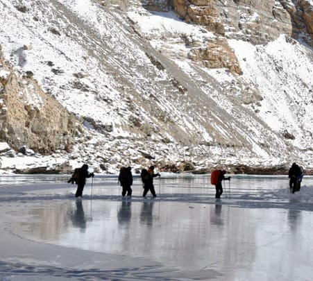 Chadar Frozen River Ice Trek 2019, Ladakh