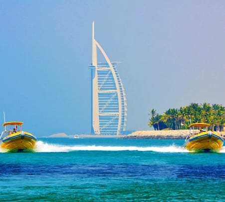 Boat Ride Tour to Palm Jumeirah and Burj Al Arab