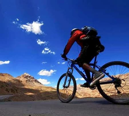 Cycling in Kangra Valley, Himachal Pradesh