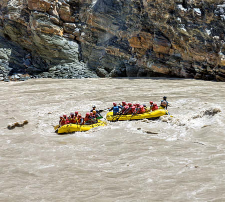 River Rafting in Ladakh Flat 20% off