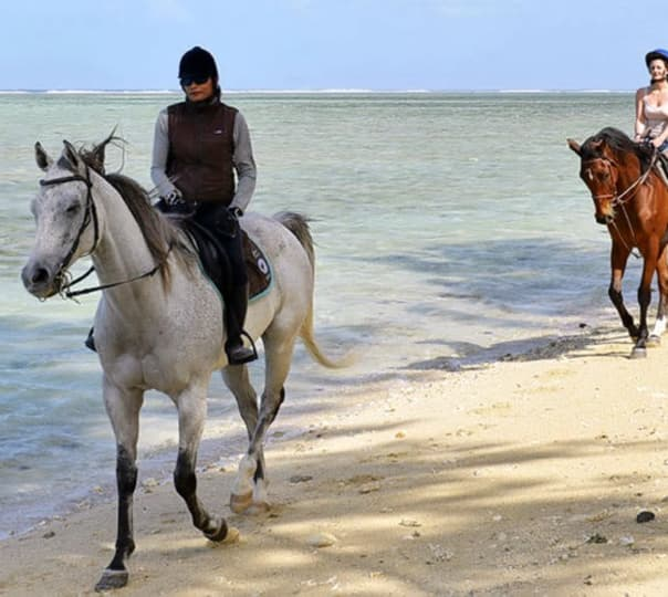 Horseback Riding at Riambel Beach in Mauritius