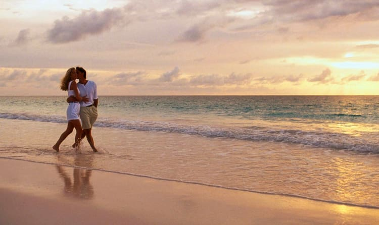 Romantic Walk At Cherai Or Marari Beach