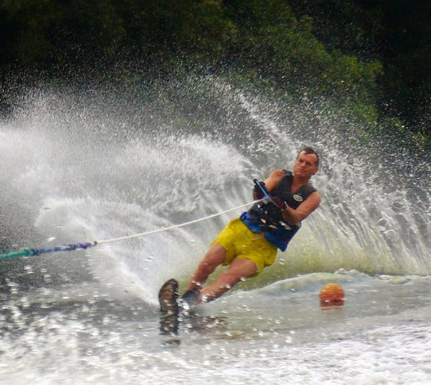 Water Skiing at Majorda Beach