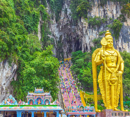 Batu Caves & Kuala Lumpur Suburbs Tour @ Flat 10% off