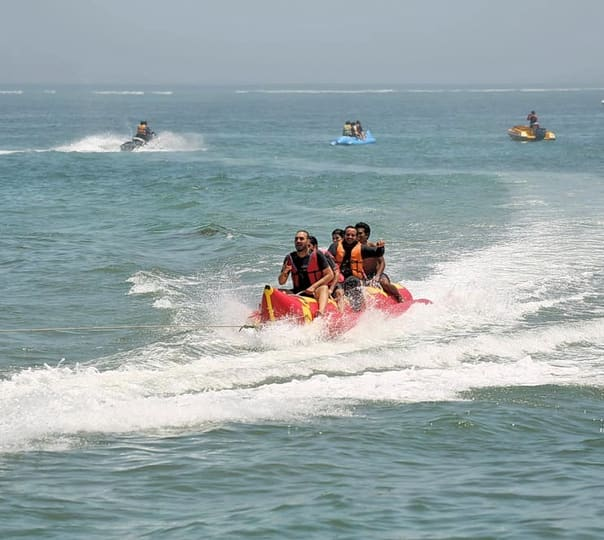 Banana Boat Ride at South Kuta in Bali