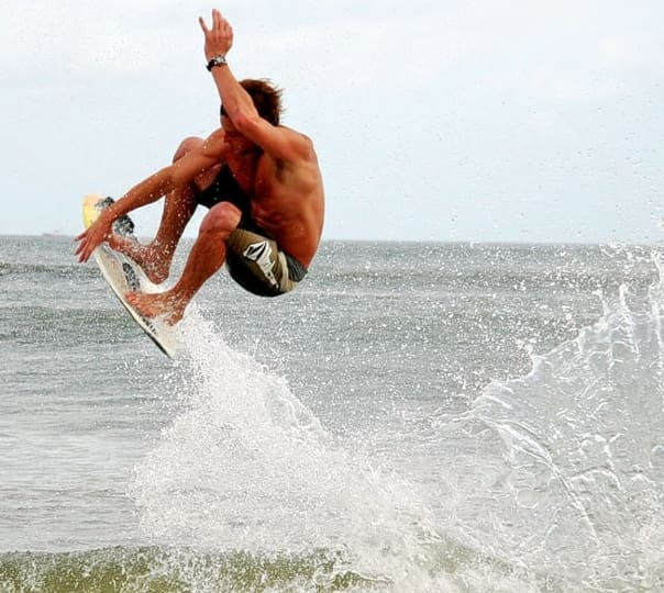 Skimboarding in Little Palm Beach