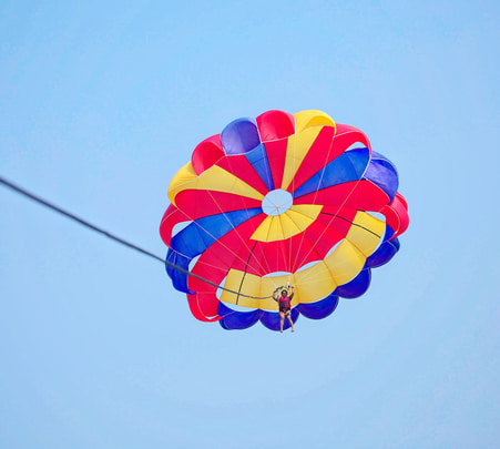 Beach Parasailing at Mobor Beach in Goa