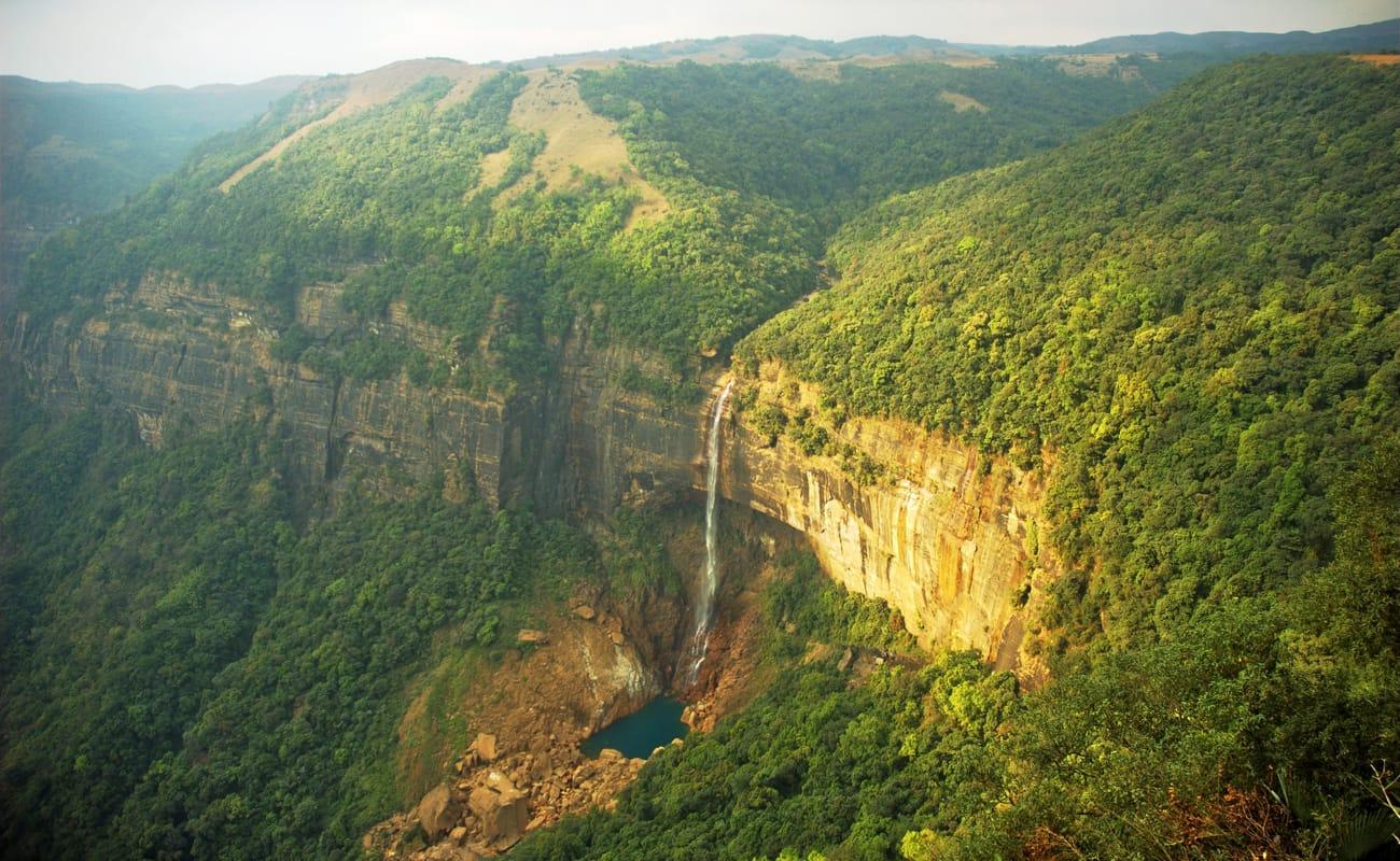 Image result for Cherrapunjee, Meghalaya + hill station