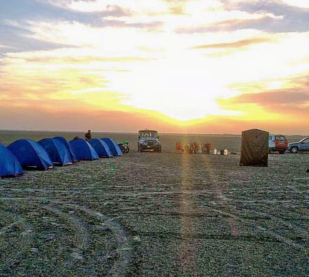 Camping at Sambhar Lake