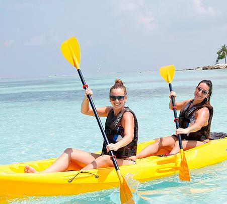 Banana Boat Ride in Maldives