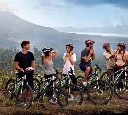 Mountain Cycling and Elephant Safari at Ubud in Bali