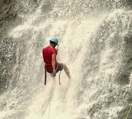 Waterfall Rappelling in Rishikesh