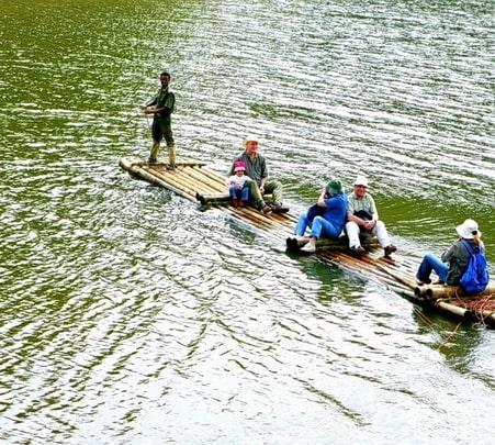 Bamboo Rafting In Pozuthana in Wayanad