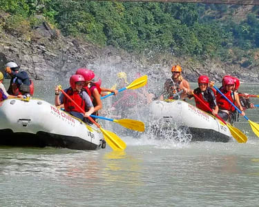 Stream Side Camping and Rafting in Rishikesh Flat 20% off