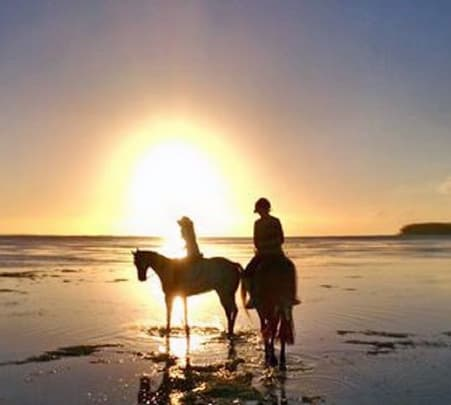 Sunset Horseriding in Riambel Beach