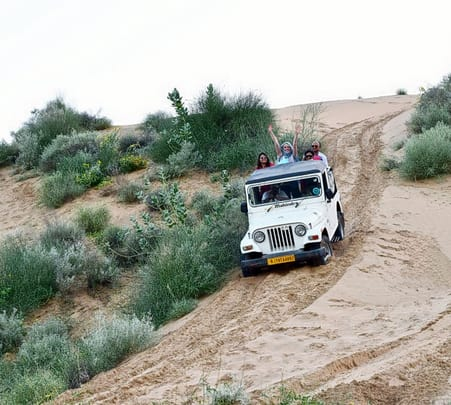 Desert Jeep Safari at Osian in Rajasthan