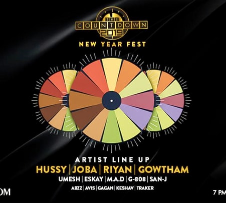 Countdown Nye Party 2019 in Chennai